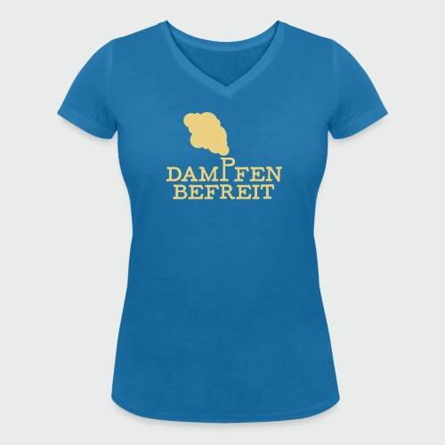 Dampfen befreit - Frauen Bio-T-Shirt mit V-Ausschnitt von Stanley & Stella