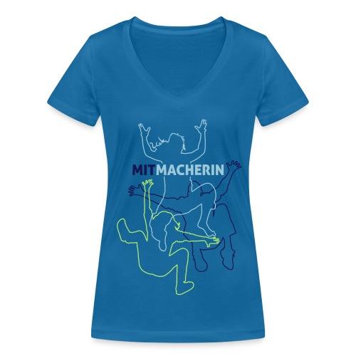 Mitmacherin Tshirt Frauen - Frauen Bio-T-Shirt mit V-Ausschnitt von Stanley & Stella