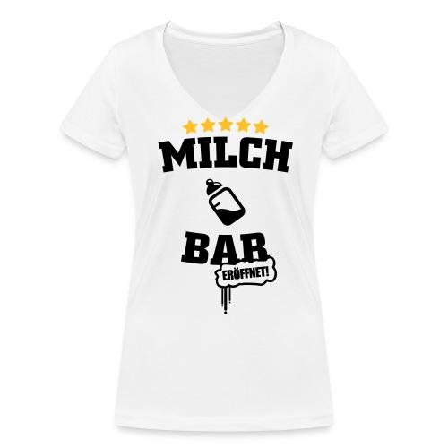 Milch Bar eröffnet deluxe T-Shirts - Frauen Bio-T-Shirt mit V-Ausschnitt von Stanley & Stella