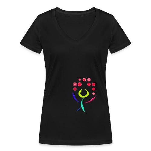 Friede Freude Eierkuchen - Frauen Bio-T-Shirt mit V-Ausschnitt von Stanley & Stella