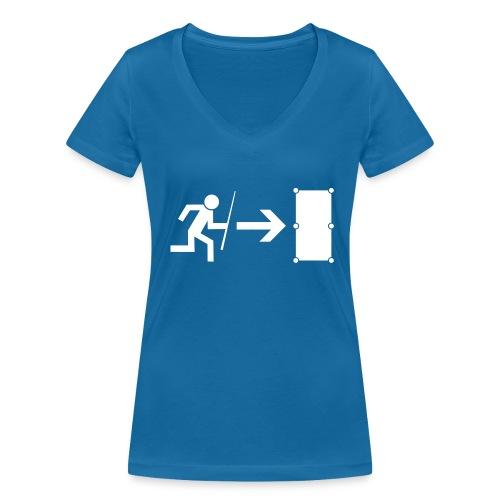 Billiard Emergency - Frauen Bio-T-Shirt mit V-Ausschnitt von Stanley & Stella