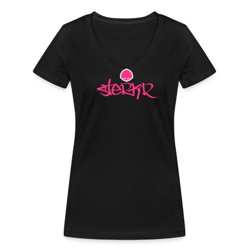 Sterkr - Vrouwen bio T-shirt met V-hals van Stanley & Stella