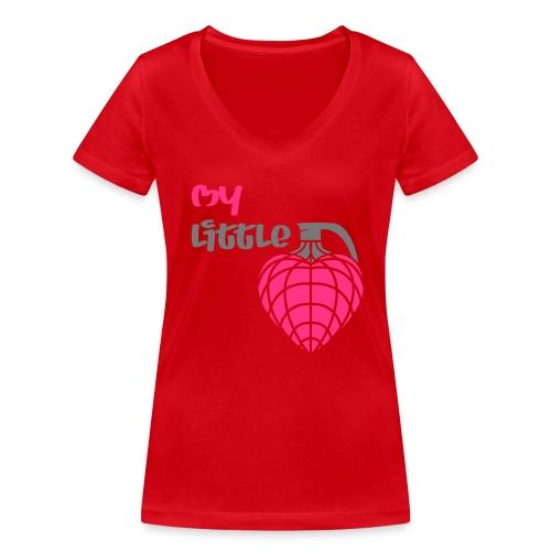 My little hand grenade - Frauen Bio-T-Shirt mit V-Ausschnitt von Stanley & Stella