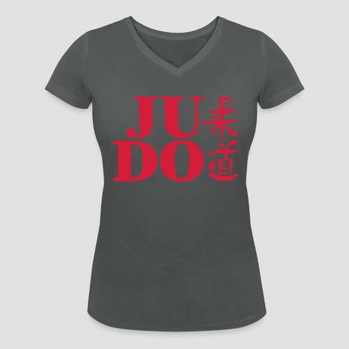 Judo chinesische Schriftzeichen - Frauen Bio-T-Shirt mit V-Ausschnitt von Stanley & Stella