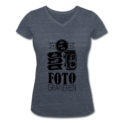 Fotografin V-Neck Shirt - Frauen Bio-T-Shirt mit V-Ausschnitt von Stanley & Stella