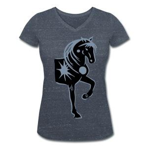 Gipsy Horse Tshirt - Frauen Bio-T-Shirt mit V-Ausschnitt von Stanley & Stella