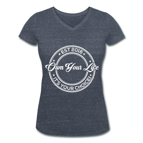 Own Your Life - Frauen T-Shirt V-Ausschnitt (Logo weiß) - Frauen Bio-T-Shirt mit V-Ausschnitt von Stanley & Stella