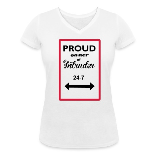 Proud Owner 1 - Ekologisk T-shirt med V-ringning dam från Stanley & Stella
