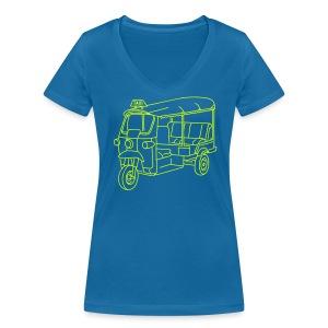 Tuk-Tuk, Taxi aus Indien oder Thailand - Frauen Bio-T-Shirt mit V-Ausschnitt von Stanley & Stella