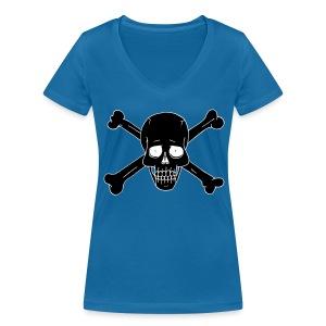Totenschädel 2 - Frauen Bio-T-Shirt mit V-Ausschnitt von Stanley & Stella