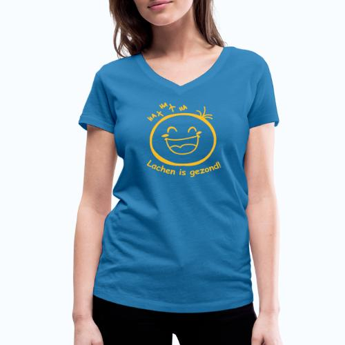 Lachen is gezond! (dames) - Vrouwen bio T-shirt met V-hals van Stanley & Stella