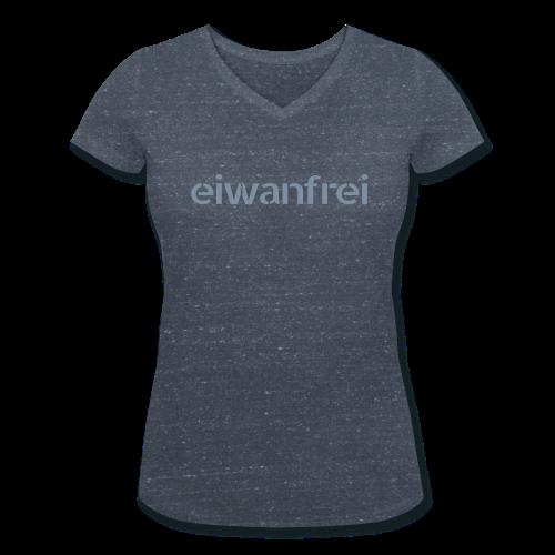"""Frauen Shirt """"eiwanfrei in silber-metallic"""" - 6 Farben - Frauen Bio-T-Shirt mit V-Ausschnitt von Stanley & Stella"""