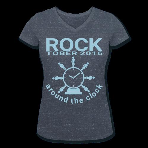 """T-Shirt mit V-Ausschnitt: """"Rocktober 2016 around the Clock"""" - Frauen Bio-T-Shirt mit V-Ausschnitt von Stanley & Stella"""