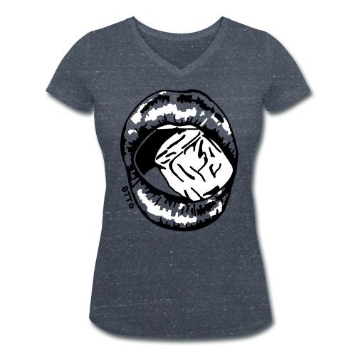 LIPS - ice - Frauen Bio-T-Shirt mit V-Ausschnitt von Stanley & Stella