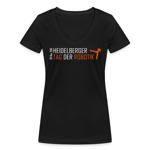 tadero girls white frame - Frauen Bio-T-Shirt mit V-Ausschnitt von Stanley & Stella