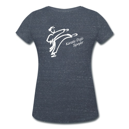 Damen T-Shirt V-Ausschnitt weißes Logo -individualisierbar- - Frauen Bio-T-Shirt mit V-Ausschnitt von Stanley & Stella