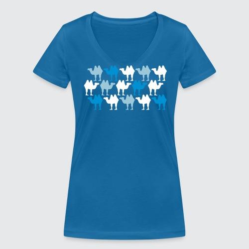 camelflage - Frauen Bio-T-Shirt mit V-Ausschnitt von Stanley & Stella