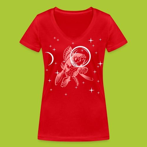 Fisch im All - FLEX - Frauen Bio-T-Shirt mit V-Ausschnitt von Stanley & Stella