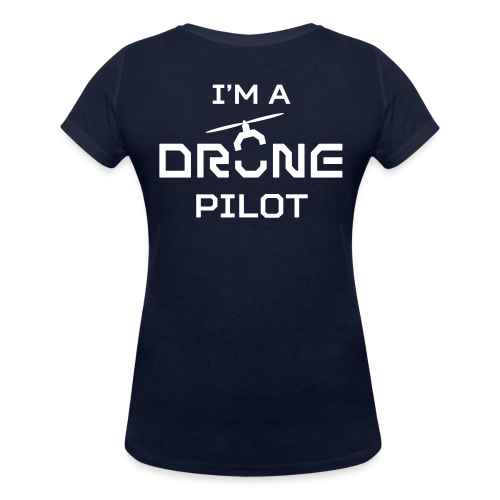 T-shirt V: I'm a Drone Pilot (woman)   Navy - Vrouwen bio T-shirt met V-hals van Stanley & Stella