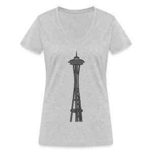 Space Needle in Seattle 2 - Frauen Bio-T-Shirt mit V-Ausschnitt von Stanley & Stella