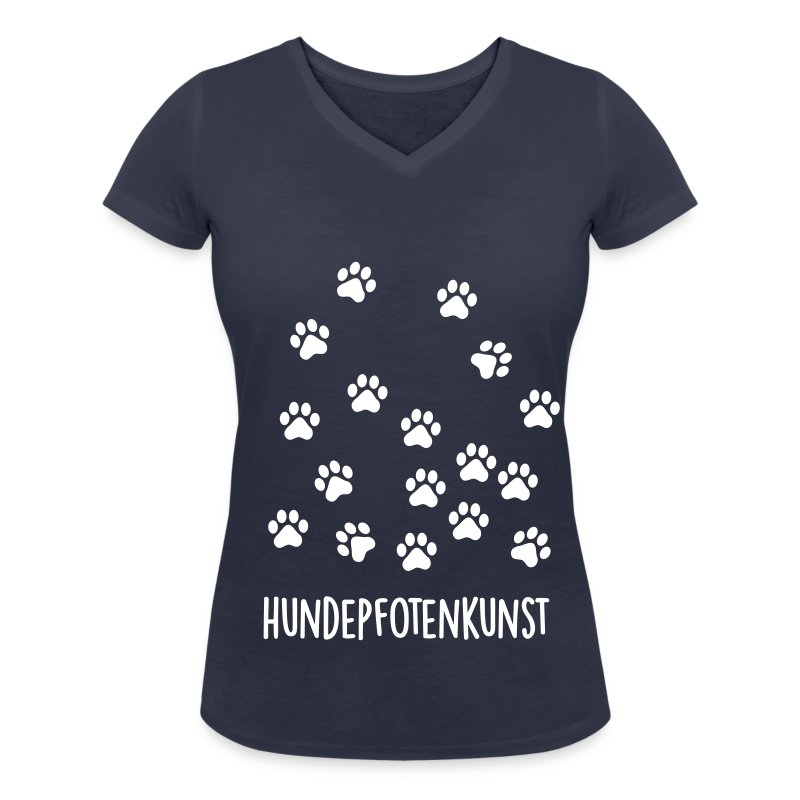 frauen t shirt mit v ausschnitt hundepfotenkunst t shirt. Black Bedroom Furniture Sets. Home Design Ideas