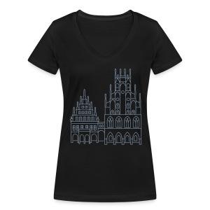 Rathaus Münster - Frauen Bio-T-Shirt mit V-Ausschnitt von Stanley & Stella