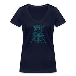 Zeche Zollverein Essen - Frauen Bio-T-Shirt mit V-Ausschnitt von Stanley & Stella