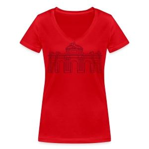 Alcalá-Tor Madrid - Frauen Bio-T-Shirt mit V-Ausschnitt von Stanley & Stella