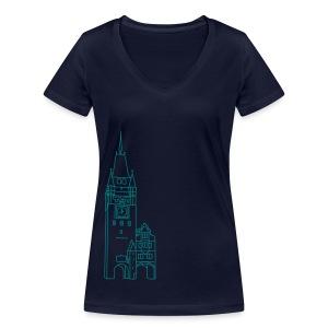 Martinstor Freiburg - Frauen Bio-T-Shirt mit V-Ausschnitt von Stanley & Stella