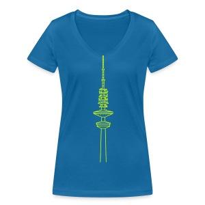 Heinrich-Hertz-Turm Hamburg - Frauen Bio-T-Shirt mit V-Ausschnitt von Stanley & Stella