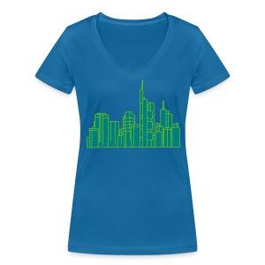Frankfurt Skyline 2 - Frauen Bio-T-Shirt mit V-Ausschnitt von Stanley & Stella