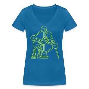 Atomium Brüssel - Frauen Bio-T-Shirt mit V-Ausschnitt von Stanley & Stella