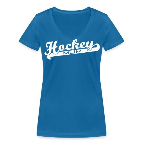 Hockey Mum V-Neck T-Shirt - Women's Organic V-Neck T-Shirt by Stanley & Stella