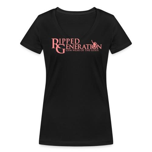 Naisten V-Aukollinen T-Paita Ripped Generation - Stanley & Stellan naisten v-aukkoinen luomu-T-paita