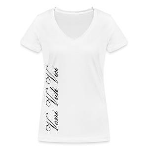 Naisten V-Aukollinen T-Paita Veni Vidi Vici - Stanley & Stellan naisten v-aukkoinen luomu-T-paita