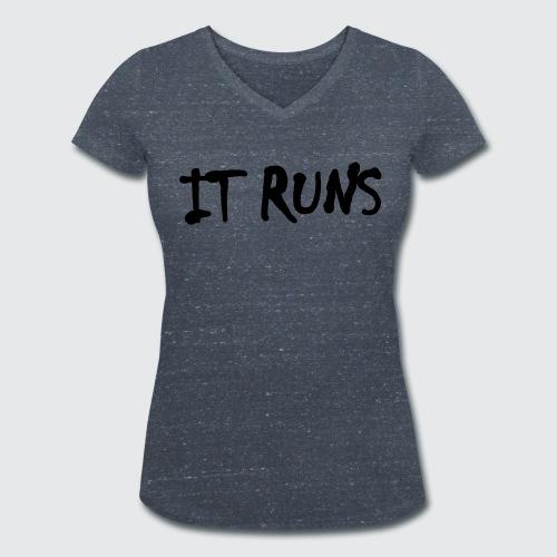 it runs - Frauen Bio-T-Shirt mit V-Ausschnitt von Stanley & Stella