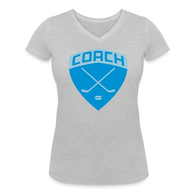 Ice Hockey Coach Women's V-Neck T-Shirt