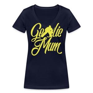 Hockey Goalie Mum V-Neck T-Shirt - Women's Organic V-Neck T-Shirt by Stanley & Stella