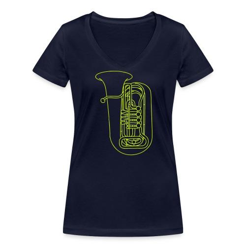 Tuba Blechblasinstrument - Frauen Bio-T-Shirt mit V-Ausschnitt von Stanley & Stella
