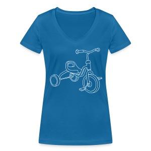 Kinderdreirad - Frauen Bio-T-Shirt mit V-Ausschnitt von Stanley & Stella