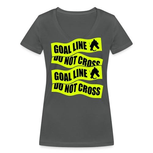 Goal Line Do Not Cross Women's V-Neck T-Shirt - Women's Organic V-Neck T-Shirt by Stanley & Stella