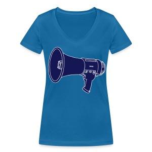 Megafon / Megaphon 2 - Frauen Bio-T-Shirt mit V-Ausschnitt von Stanley & Stella