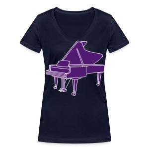 Klavier Konzertflügel 2 - Frauen Bio-T-Shirt mit V-Ausschnitt von Stanley & Stella