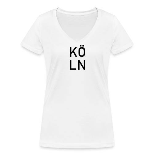 Köln Frauen - Frauen Bio-T-Shirt mit V-Ausschnitt von Stanley & Stella