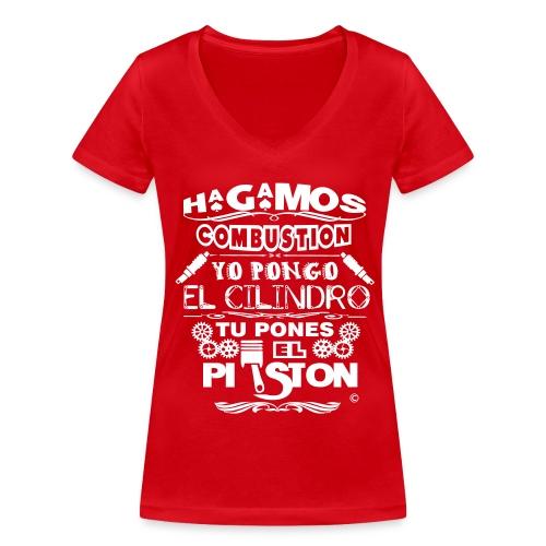 Hagamos combustion - Camiseta ecológica mujer con cuello de pico de Stanley & Stella