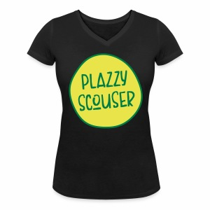 Plazzy Scouser Women's V-Neck T-Shirt - Women's Organic V-Neck T-Shirt by Stanley & Stella