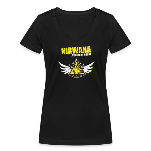 Nirwana Frauen T-Shirt - Frauen Bio-T-Shirt mit V-Ausschnitt von Stanley & Stella