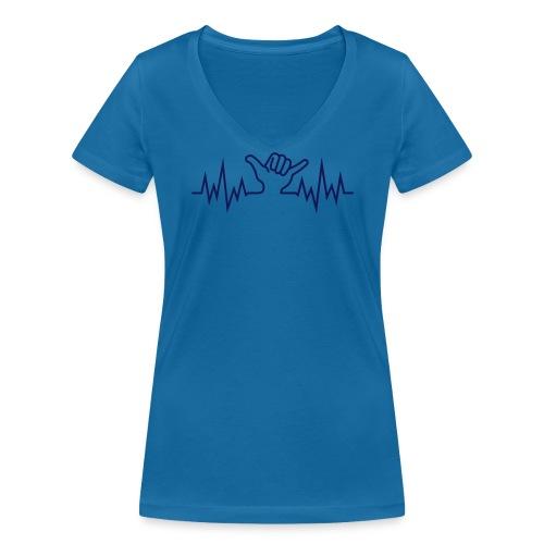 Wave  Hand Sign - Frauen Bio-T-Shirt mit V-Ausschnitt von Stanley & Stella
