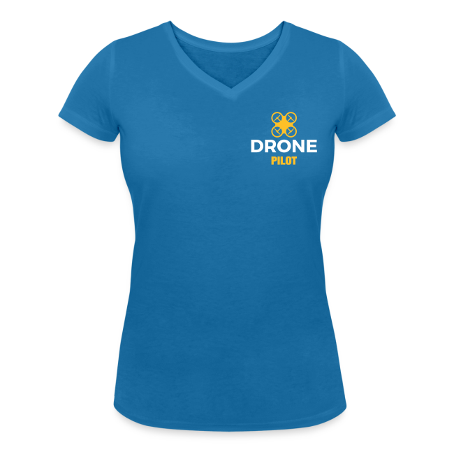 T-shirt V: Fly Yuneec (woman) | Blue