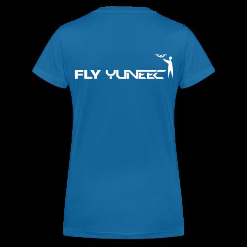 T-shirt V: Fly Yuneec (woman) | Blue - Vrouwen bio T-shirt met V-hals van Stanley & Stella